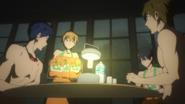 Iwatobi team inside Rest House