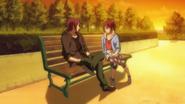Rin and Gou at an island park