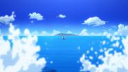 Swimming towards Sukishima