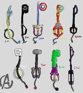 Avengers keyblades by jazmtaz d5kml8d-pre