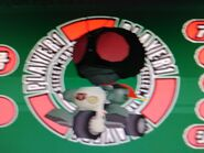 Kamen Rider Ichigo is riding a Cyclone Big Wheels