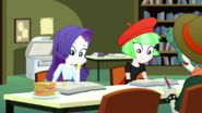 Rarity reading in the Canterlot High library SS14
