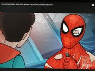 Spider-Man is holding a USB
