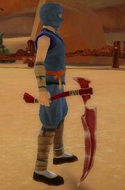 Ninja's Scythe of Dragonstrike held.jpg