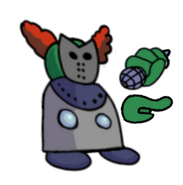 Tiky masked left 2