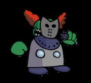 Tiky masked up 2