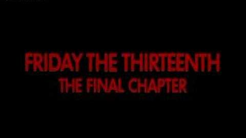 Friday the 13th The Final Chapter Trailer
