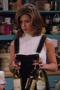 Rachel in overalls