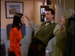 5x14 Chandler imitading Phoebe.jpg