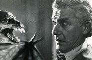 Fright Night 1985 Roddy McDowall stares down bat