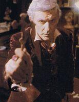 Fright Night 1985 Roddy McDowall with Cross