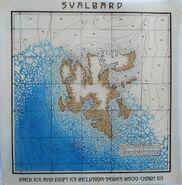 Mapa Svalbard