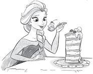 Elsa eating Flangendorfer