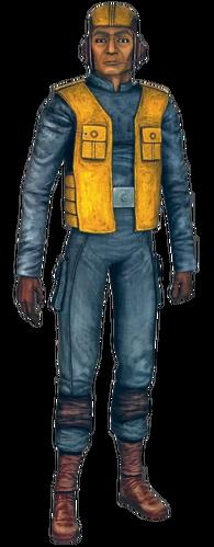 Soldat clone d'équipage en vol