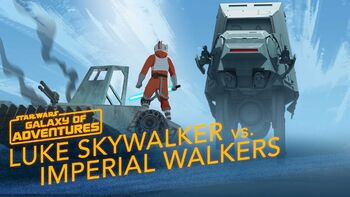 Luke contre les quadripodes impériaux, commandant sur Hoth