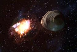 Les capsules de sauvetage de l'Endar Spire s'éjectant pour s'enfuir sur Taris.