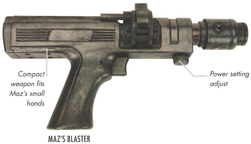 Pistolet blaster de Maz Kanata