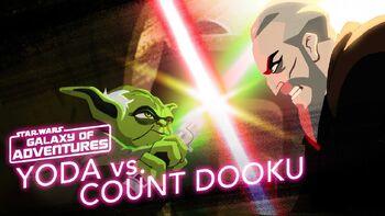 Yoda vs Comte Dooku, la taille importe peu