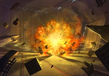 Attentat à la bombe dans le hangar du Temple Jedi