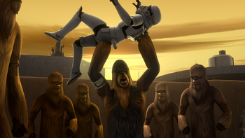 Mission pour libérer les prisonniers Wookiee