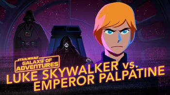 Luke contre l'Empereur Palpatine, s'élever contre le Mal