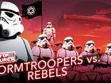 Stormtroopers vs Rebelles, soldats de l'Empire galactique