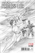 Princess Leia 1 Alex Ross Sketch Variant Cover
