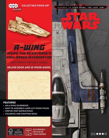Star Wars: A-Wing Deluxe Book and 3D Wood Model