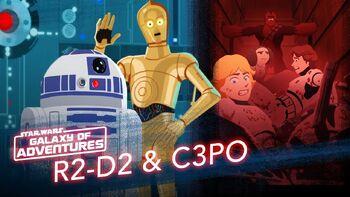R2-D2 et C-3PO, le sauvetage du compacteur à ordures