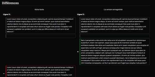 Votre version se trouve dans la zone inférieure et peut être ajoutée dans l'écran principal d'édition de la page.