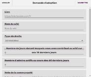 Formulaire d'adoption