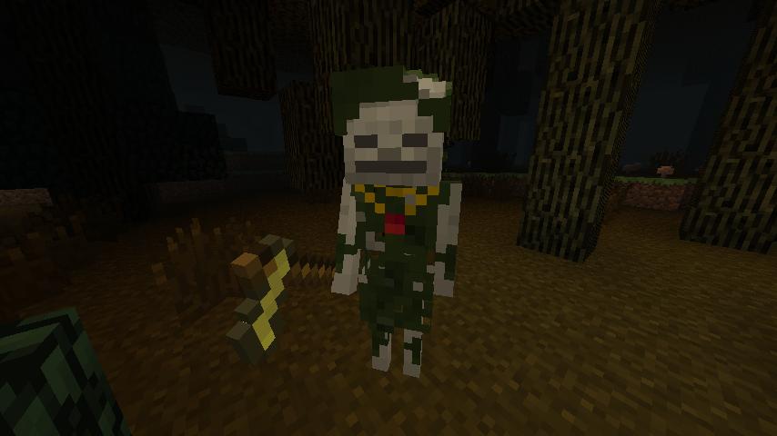 A Skeleton Druid in the Dark Forest.