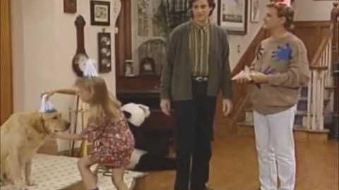 Full_House_Funny_Clip_-_Comet_blows_out_his_birthday_candles