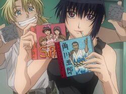 Kurz and Mao preparing Sasuke for school.jpg