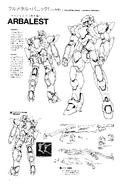 ARX-7 Arbalest Original Version Lineart 2