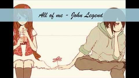 Nightcore ~ All of me (John Legend ft Lindsey Stirling)