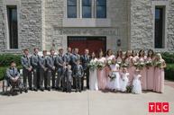 Josiah, Lauren, and their wedding party