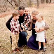 Rachel's family in November 2020
