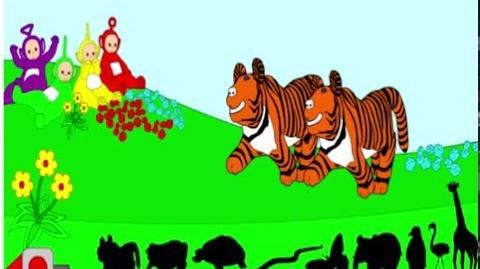 Teletubbies animals puzzle game