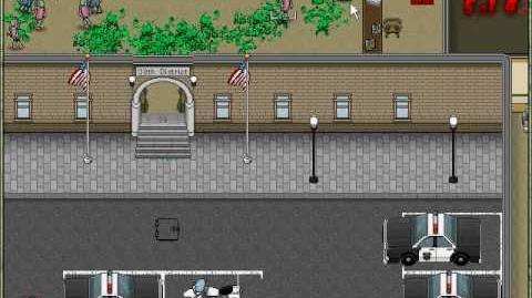 Zombie dawn USA - police precinct