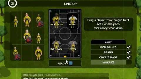 Jagex Mod SallyD in a Kickabout League match 4vs4