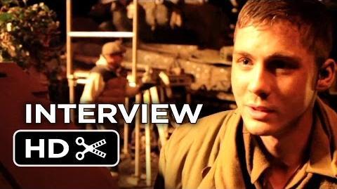 Fury Interview - Logan Lerman (2014) - Shia LaBeouf, Brad Pitt War Drama HD