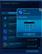 Unused Nano Tuning Vendor and Bolt Item Info Window