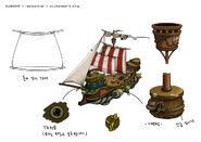 Stickybear ship 04 detail