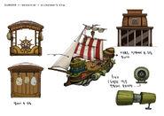 Stickybear ship 03 detail