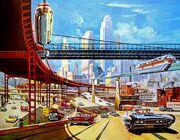 Traffic of the Future by Klaus Bürgle 1959.jpg