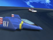 Lap1 (12) Blue Falcon passing by