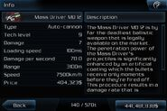 Mass driver md 12 info page