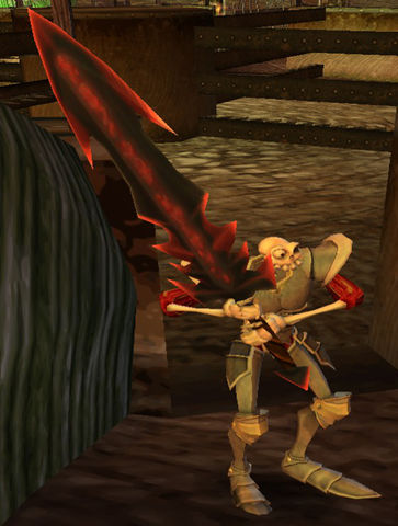 (MediEvil) Sir Daniel Fortesque with the Woden's Brand.jpg