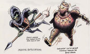 MediEvilghoul and fatknight art
